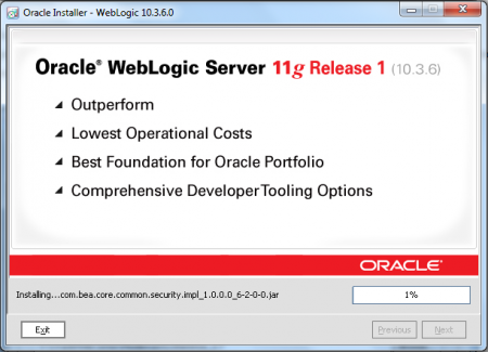 Oracle Weblogic Middleware - Installing