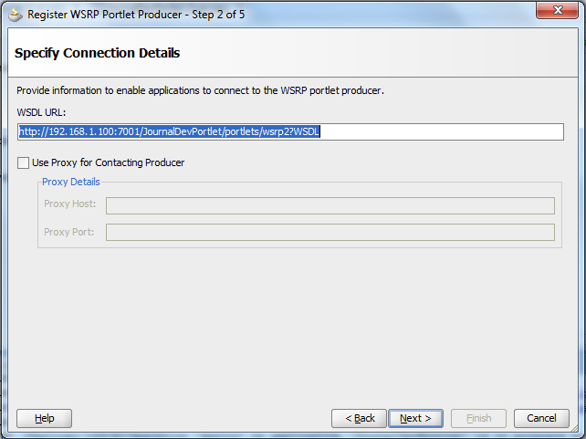 WSRP Producer Registration - Paste your WSRP WSDL