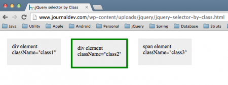 jQuery selector by class example