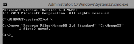 MongoDB install windows