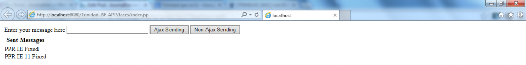 IE 11 Fixed - PPR Demonstration - Sent New Messages