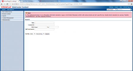 Accessing of UCM Home Page