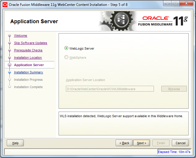 Install WCC - Application Server