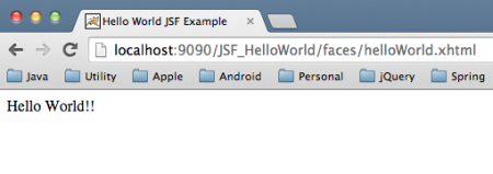 JSF Hello World Output, JSF Tutorial for Beginners