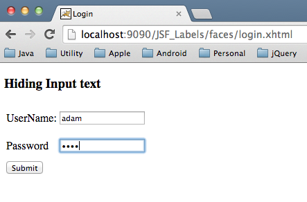 JSF-Labels-Login