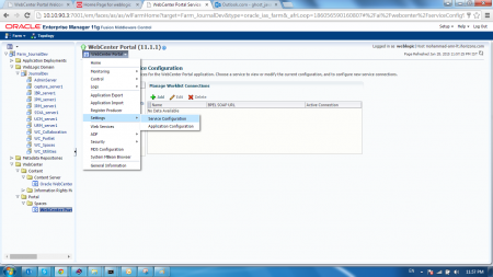 Open Oracle Webcenter Content Tab