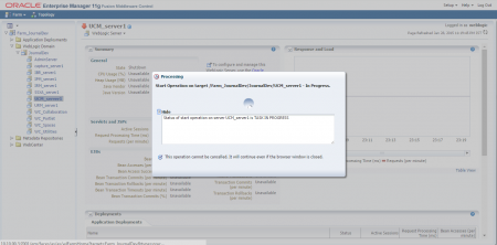 Restart your Oracle Webcenter Content Instance