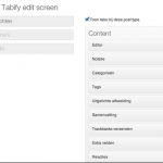 How to Make Your WordPress Post Editor Screen Less Crowded using Tabify Edit Screen Plugin