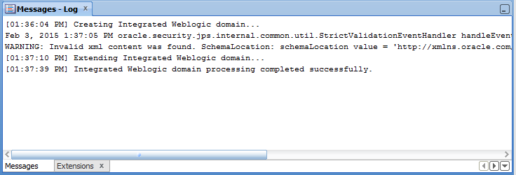 Configure Default Domain - Domain Created