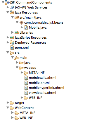 JSF-Command-Button-Link-Project
