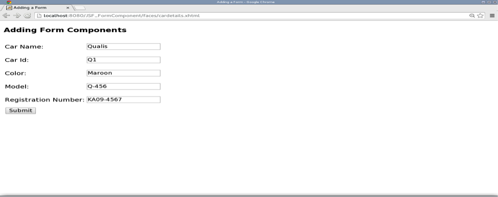 JSF Form Components Example Tutorial - JournalDev