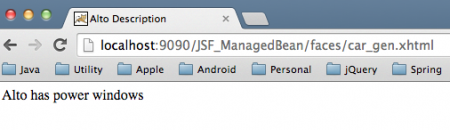 JSF ManagedBean ManagedProperty