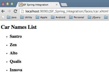 JSF-Spring-Integration-Example