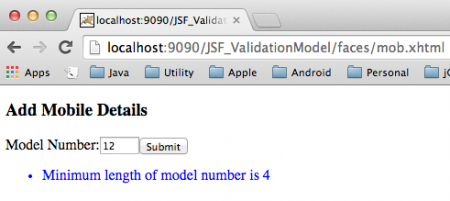 JSF-Validation-Model-2