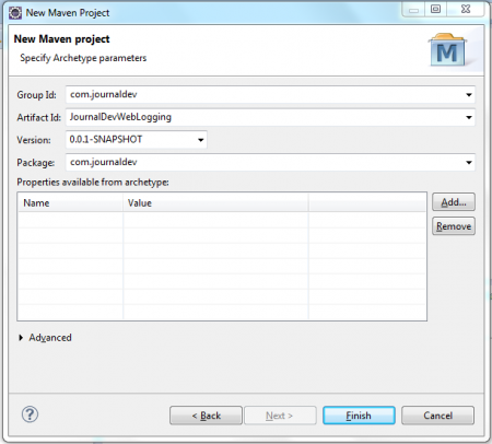 Eclipse IDE - Create Maven Project