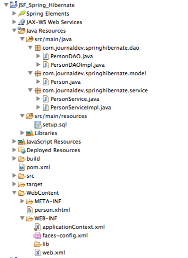 JSF Spring Hibernate Integration Example Tutorial - JournalDev