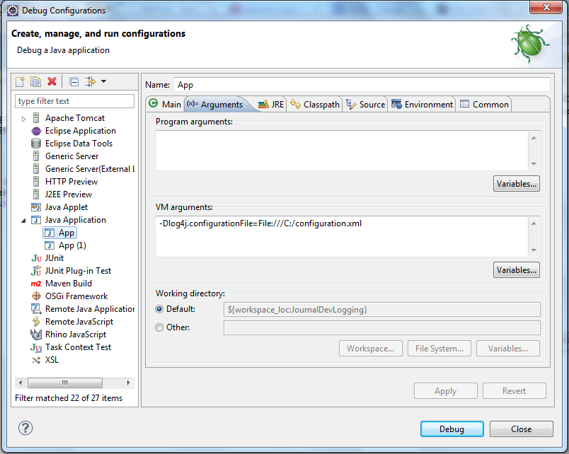 log4j2 configuration, log4j.configurationFile, Passing log4j property as a JVM Parameter