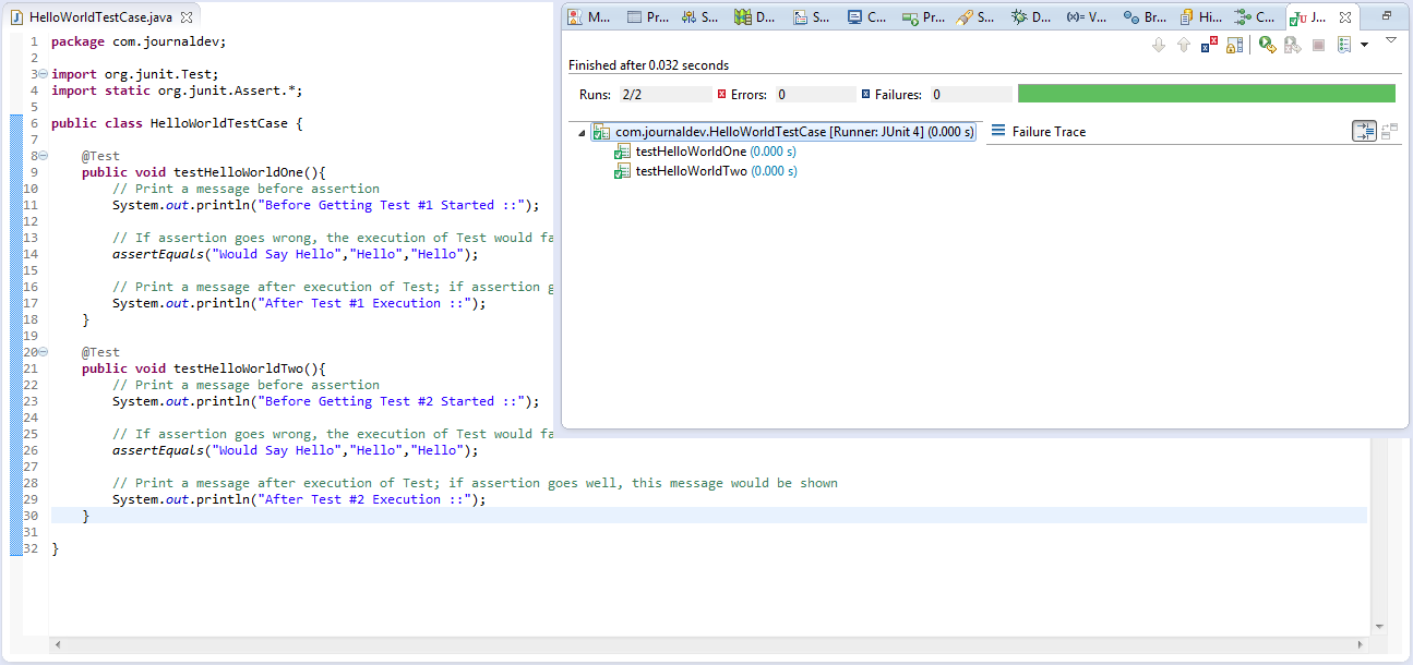 how to create junit test in eclipse