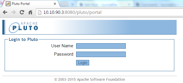 JWebUnit - Accessing Apache Pluto Base URL