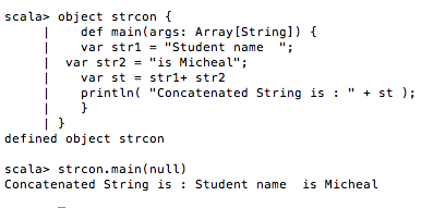 Scala String concatenation, substring, length functions - JournalDev
