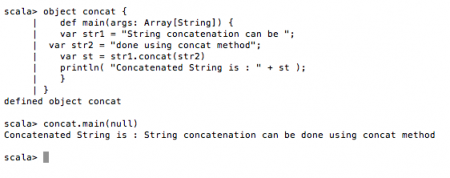 Scala String Concatenation