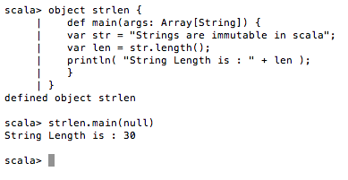 Scala String length