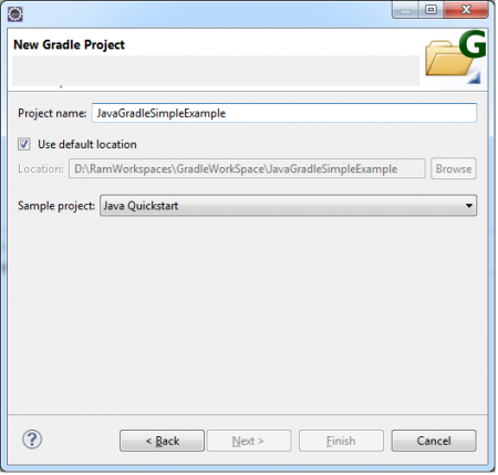 gradle eclipse project wizard