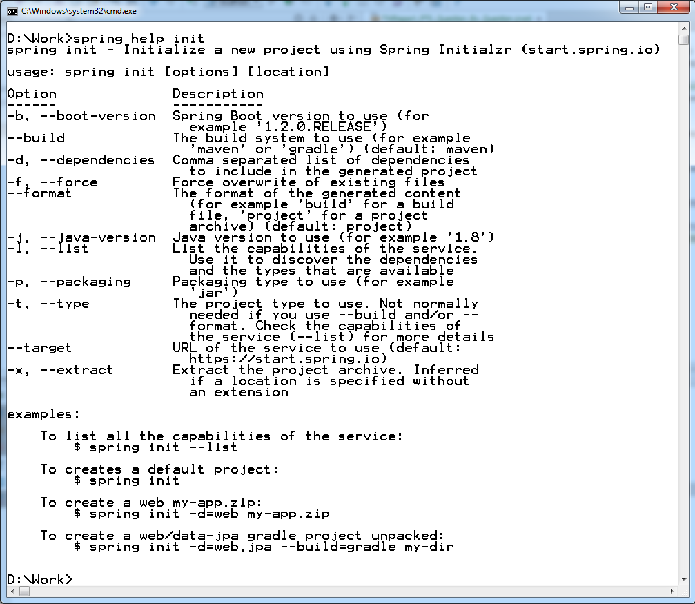 Spring boot initilizr with spring boot cli journaldev spring boot initilizr with spring boot cli baditri Choice Image