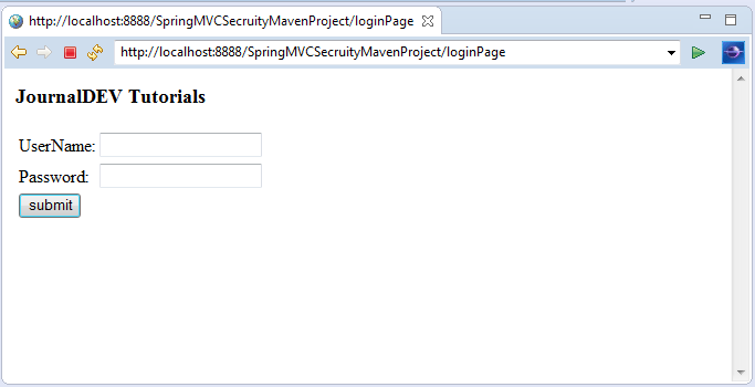 Spring 4 Security MVC Login Logout Example - JournalDev