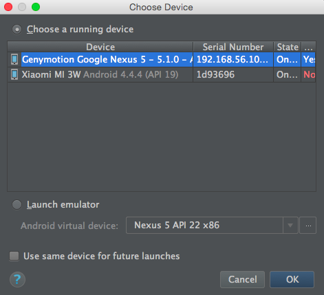 android studio tutorial run app on device