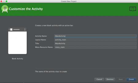 android studio project customize activity
