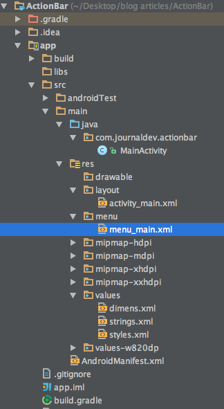 Android ActionBar Example Tutorial - JournalDev
