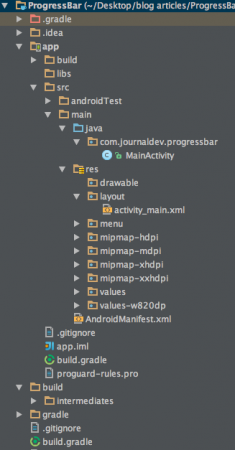 android-progressbar-project-structure