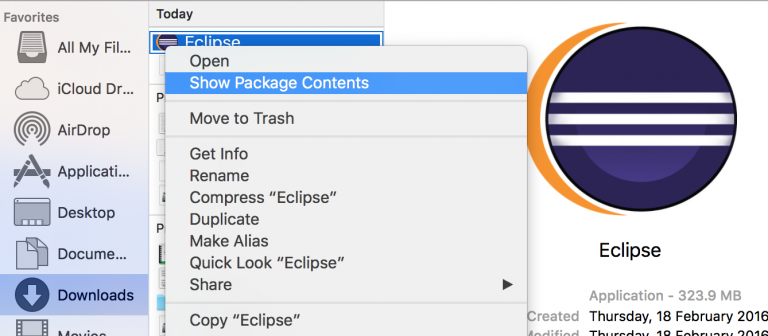 Oxygen 3a   Eclipse Packages
