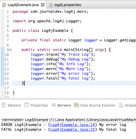 lo4j.rootLogger example