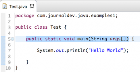 public static void main string args, java main method
