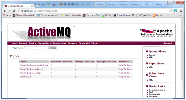 apache activemq server create topic