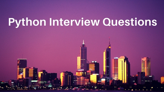 python interview questions and answers