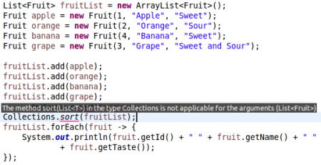java collections sort