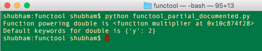 python functools partial documented