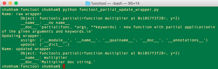 python functools update wrapper