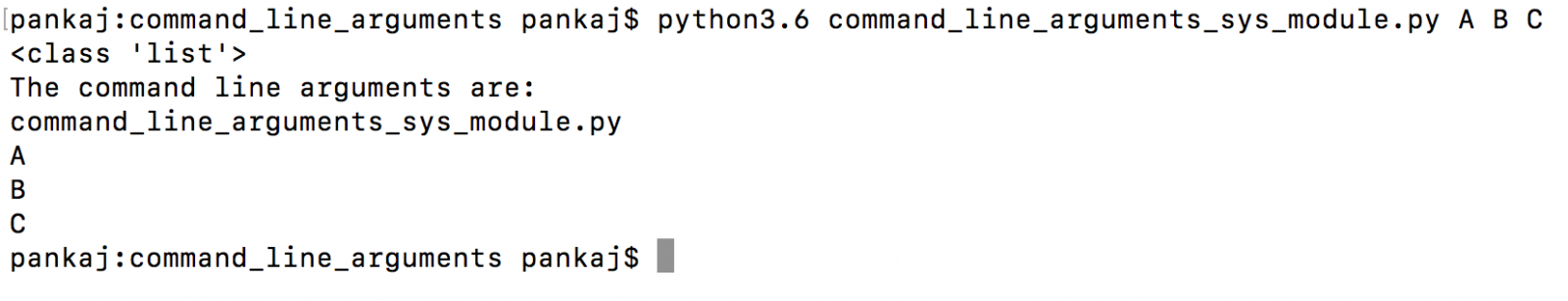 read python command line argument using sys.argv