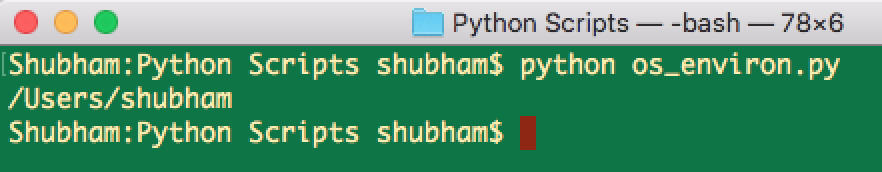python os environment variable