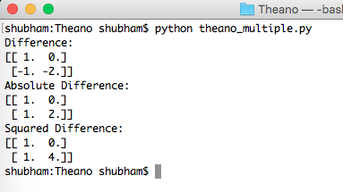 python theano machine learning