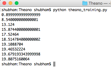 theano tutorial, python theano