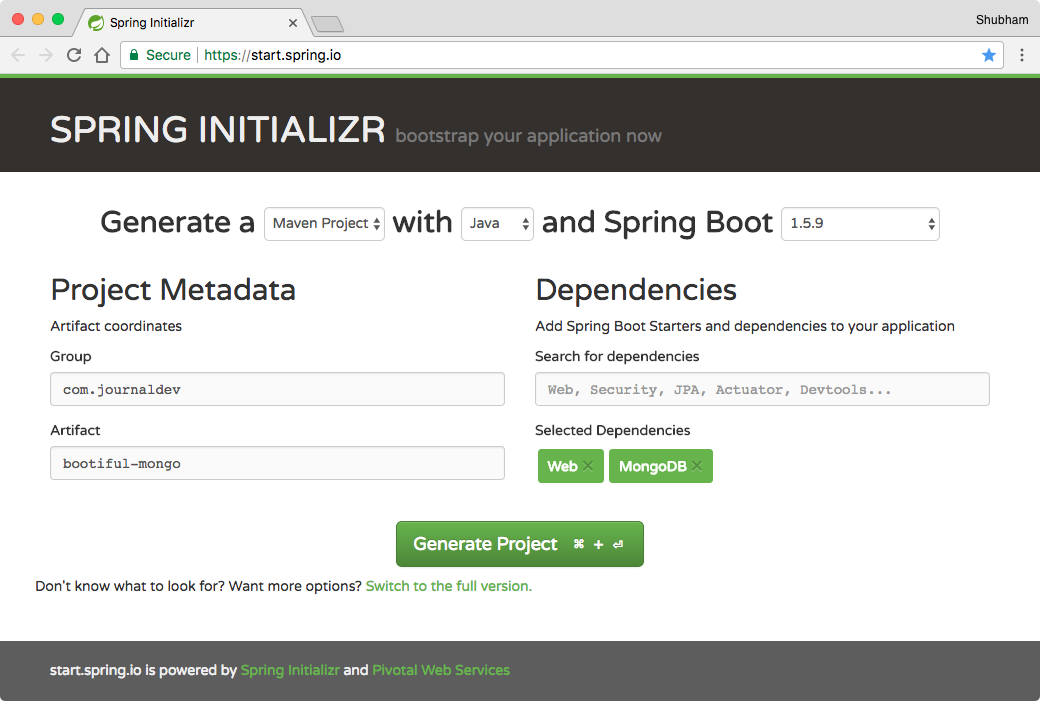 Spring Boot MongoDB - JournalDev