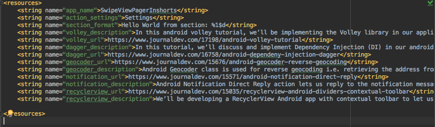 android viewpager string resources