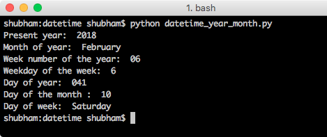 python datetime example