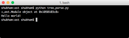 Python AST - Abstract Syntax Tree - JournalDev