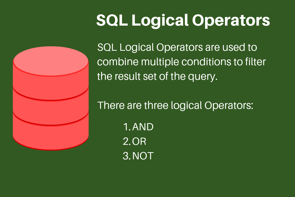 Sql Logical Operators